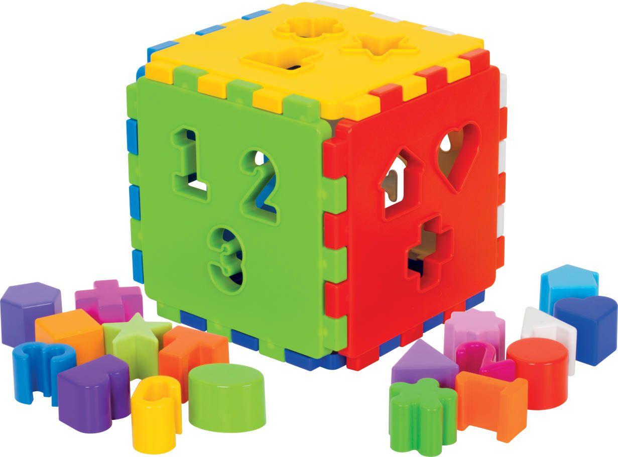 Kit de Brinquedos para Bebê Girafa + Cubo + Cubinhos