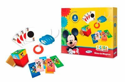 Kit de Mágicas do Mickey Mouse com 8 Mágicas - Xalingo