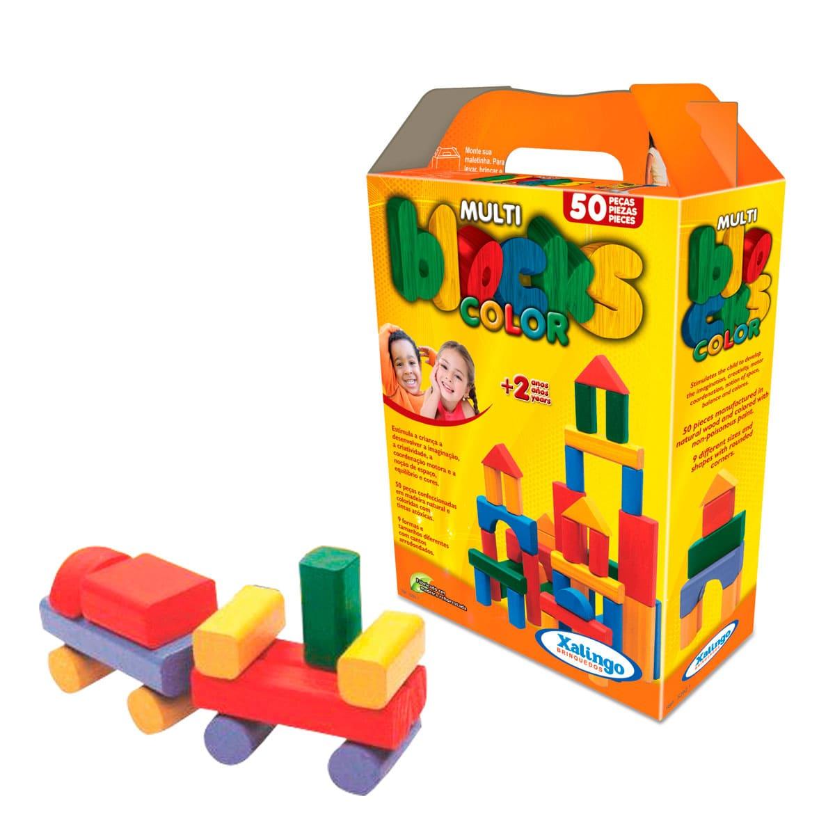 Multiblocks Coloridos - Blocos De Montar - Xalingo