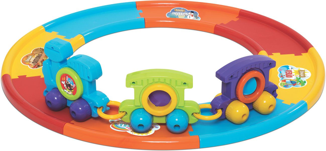 Trenzinho Brinquedo Educativo Mercotoys