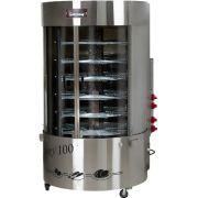 Assador giratório para frangos e carnes 100 kg capacidade gastromaq