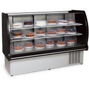 Balcão confeitaria refrigerado VRP-165 black CLASSIC-conservex