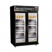 Cervejeira Expositor 2 Portas Vidro 675 Litros Black-FRILUX