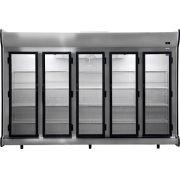 Expositor 5 Portas auto serviço acfm 2375 litros Fricon