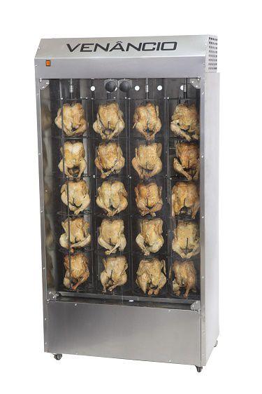 Asador de frango giratório 20 frangos ffv20 Venâncio