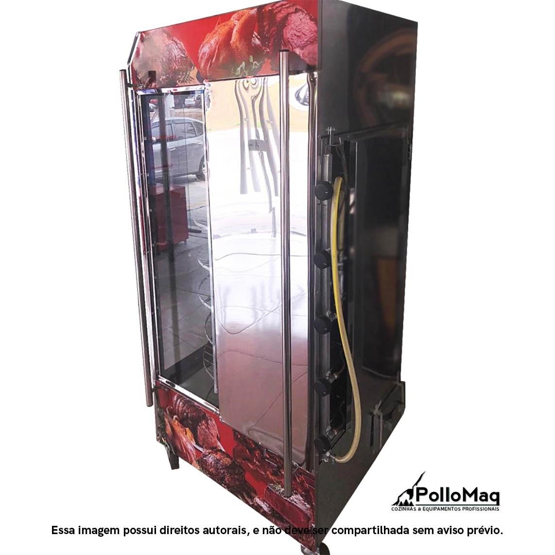 Assador Multiuso Giratorio 120 Kg/60 Frangos - Master Grill Luxo