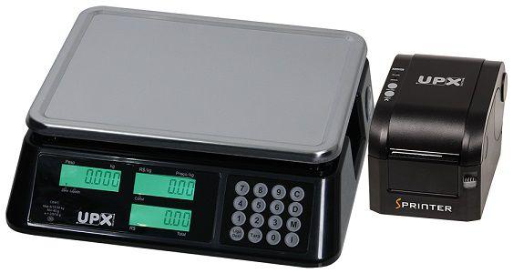 Balança 30 kg triplice escala com bateria e impressora térmica-UPX SOLUTION