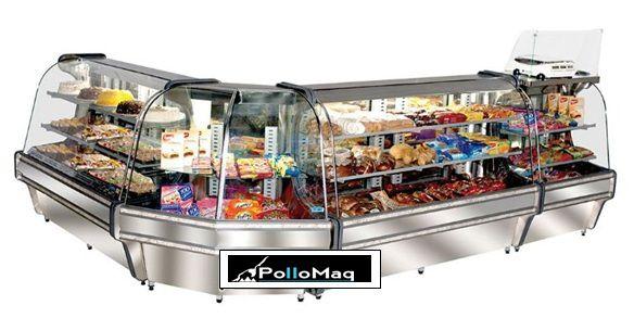 Balcão Confeitaria Bolos/Tortas Refrigerado 1,20 Mts Inox Spazio Klima