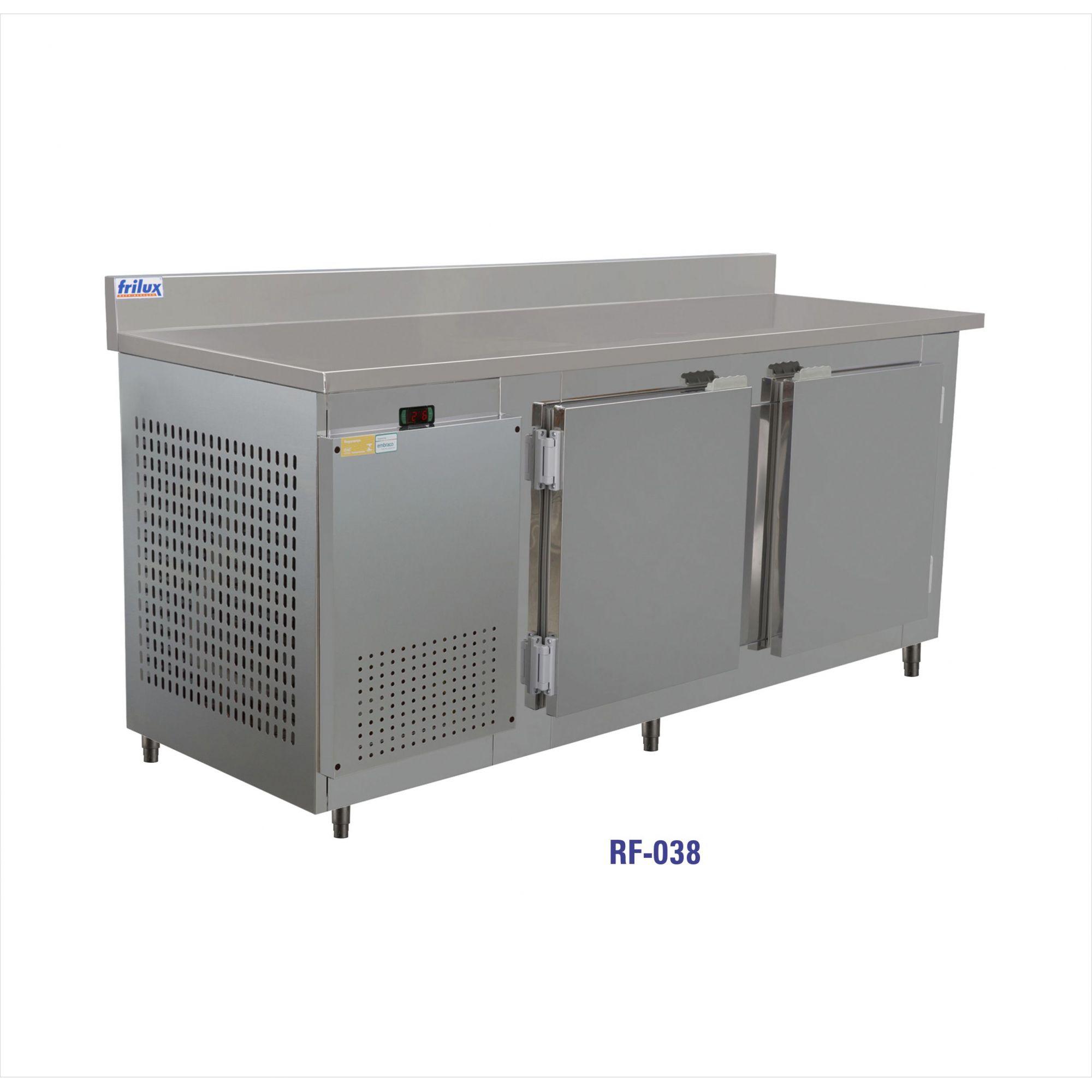 Balcão de encosto Para congelados inox 1,90 mts-frilux