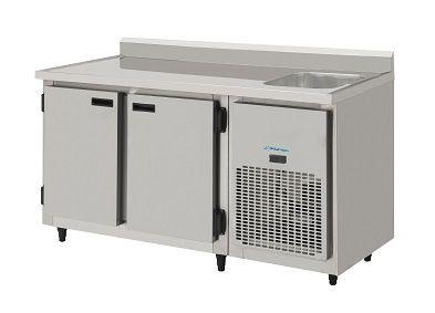 Balcão de encosto Refrigerado com pia 1,50 mts-KOFISA