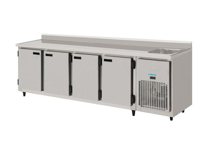 Balcão de encosto Refrigerado com pia 2,50 mts-KOFISA