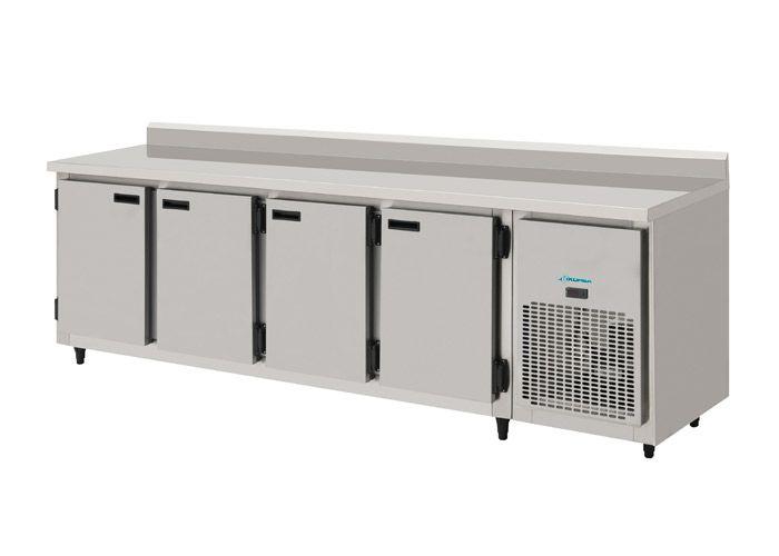 Balcão de Encosto Refrigerado Inox 2,50 Metros-KOFISA