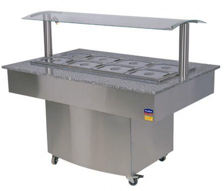Buffet Refrigerado P/10 Cubas Gourmet Premium-KLIMA