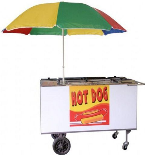 Carrinho Hot Dog c/ Chapa branca e Inox - Pollo