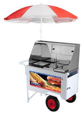 Carrinho Hot Dog + Lanche Luxo com rodas pneumáticas - Armon