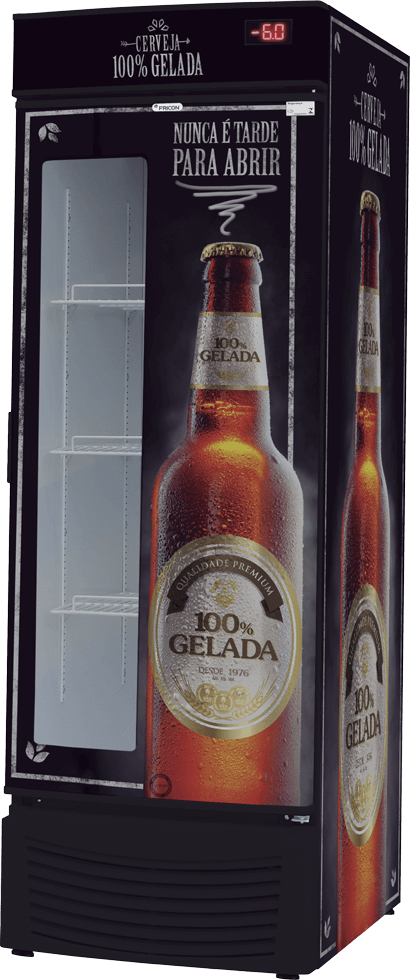 Cervejeira 8 Caixas 600 ml Porta com visor VCFC 565 D Fricon