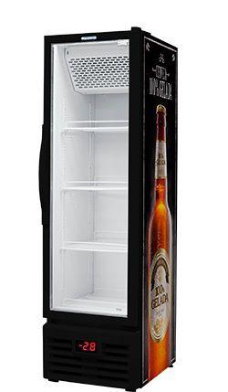 Cervejeira Black 7 Caixas porta de Vidro 431 litros - Fricon