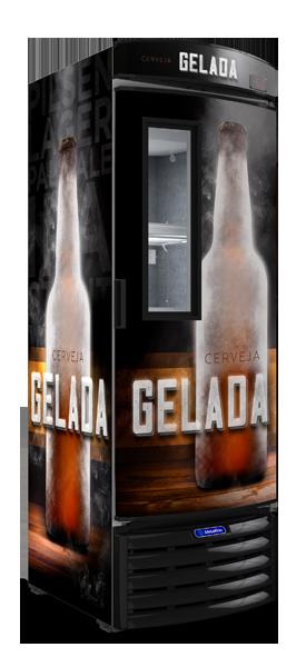 Cervejeira Porta com Visor 434 litros VN44FL-METALFRIO