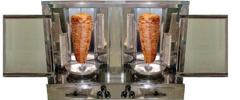 churrasco grego 2 espetos de bancada inox-pollomaq