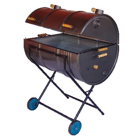 Churrasqueira a carvão bafo Grill tambor 200 litros-MINASCA