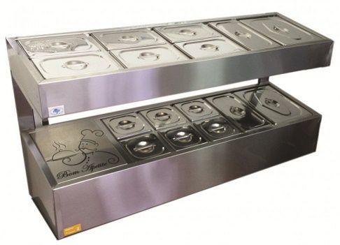 Condimentador Pizzaiolo refrigerado inox 13 cubas-IBET