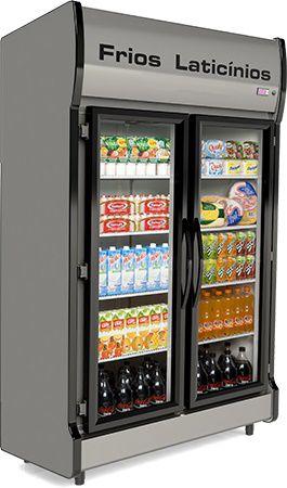 Expositor 2 portas auto serviço 880 litros AS-2/E CONSERVEX
