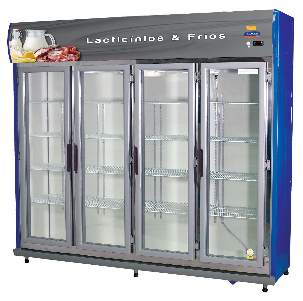 Expositor Auto Serviço 4 Portas Frios e Laticínios Pratice - Klima