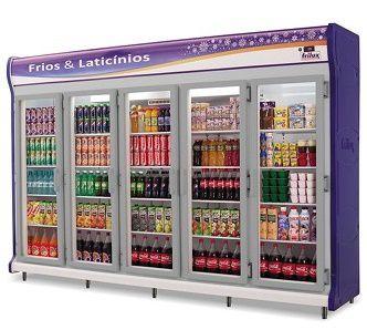 Expositor Auto Serviço 5 Portas Frios e Laticínios - Frilux