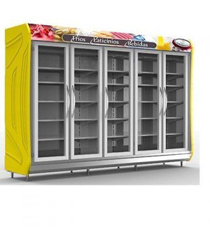 Expositor Geladeira Auto Serviço 5 Portas 3,05 Mts - Polar