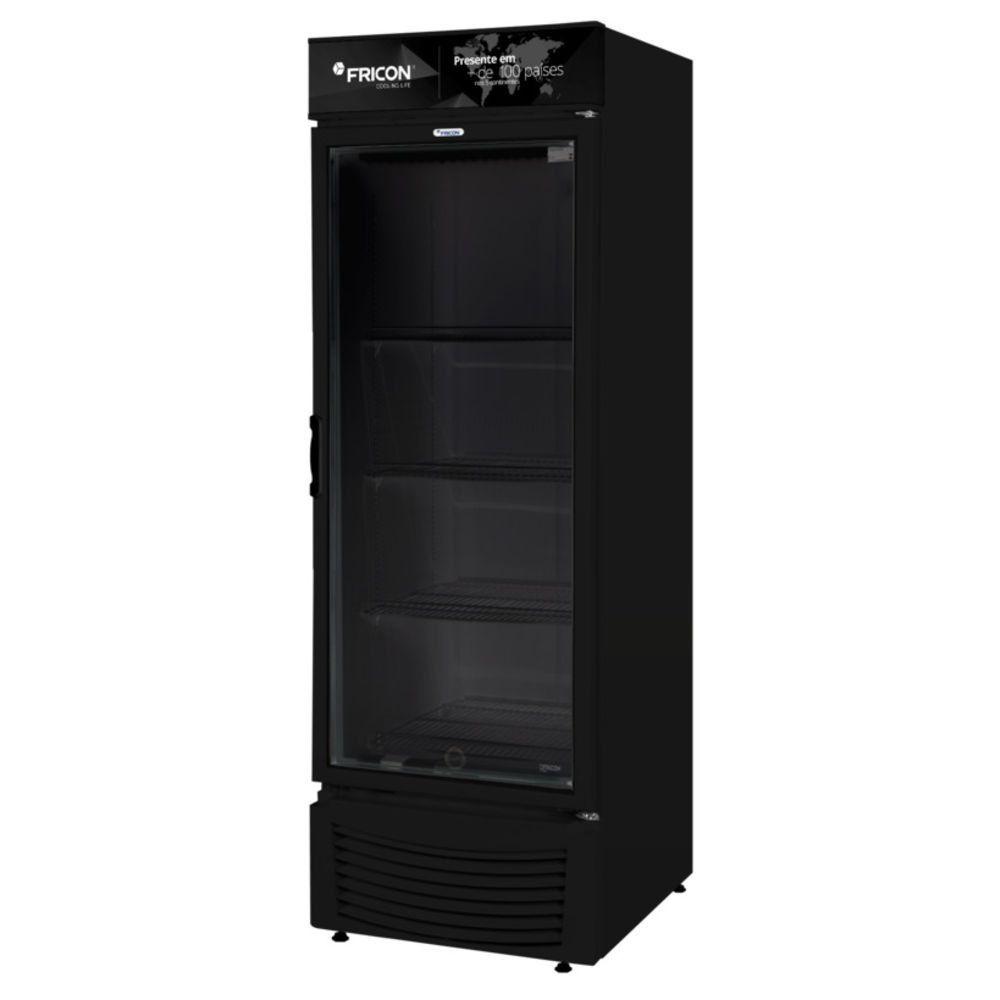Expositor Vertical 1 Porta Black One 565 Litros Fricon