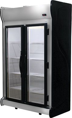 Expositor vertical 2 portas inox acfm 1000-fricon