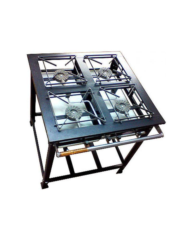 Fogão Industrial Alta Pressão 4 Bocas - Cristal Aço