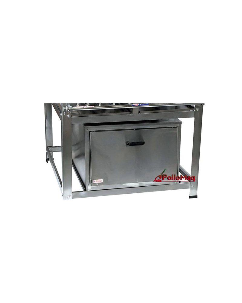Fogão Industrial Inox 5 Bocas com Forno Luxo - Cristalaço
