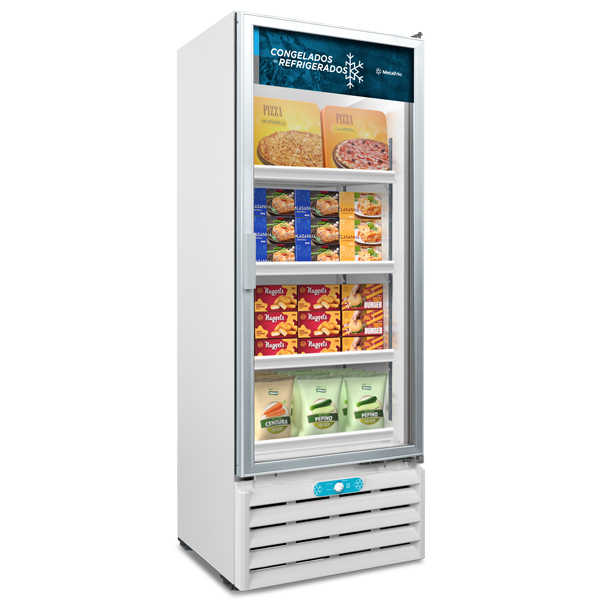 Freezer e Expositor Porta de Vidro Dupla Ação 509 Litros VF55 AL Metalfrio