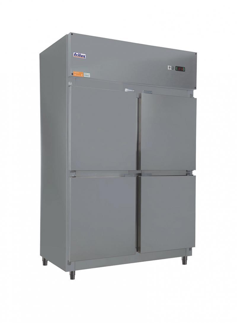Freezer Vertical 4 Portas em Inox TºC - 0 a -15 ºC -  Frilux