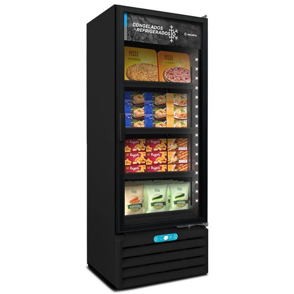 Freezer Vertical Dupla Ação VF55AH Black 509 Litros Metalfrio