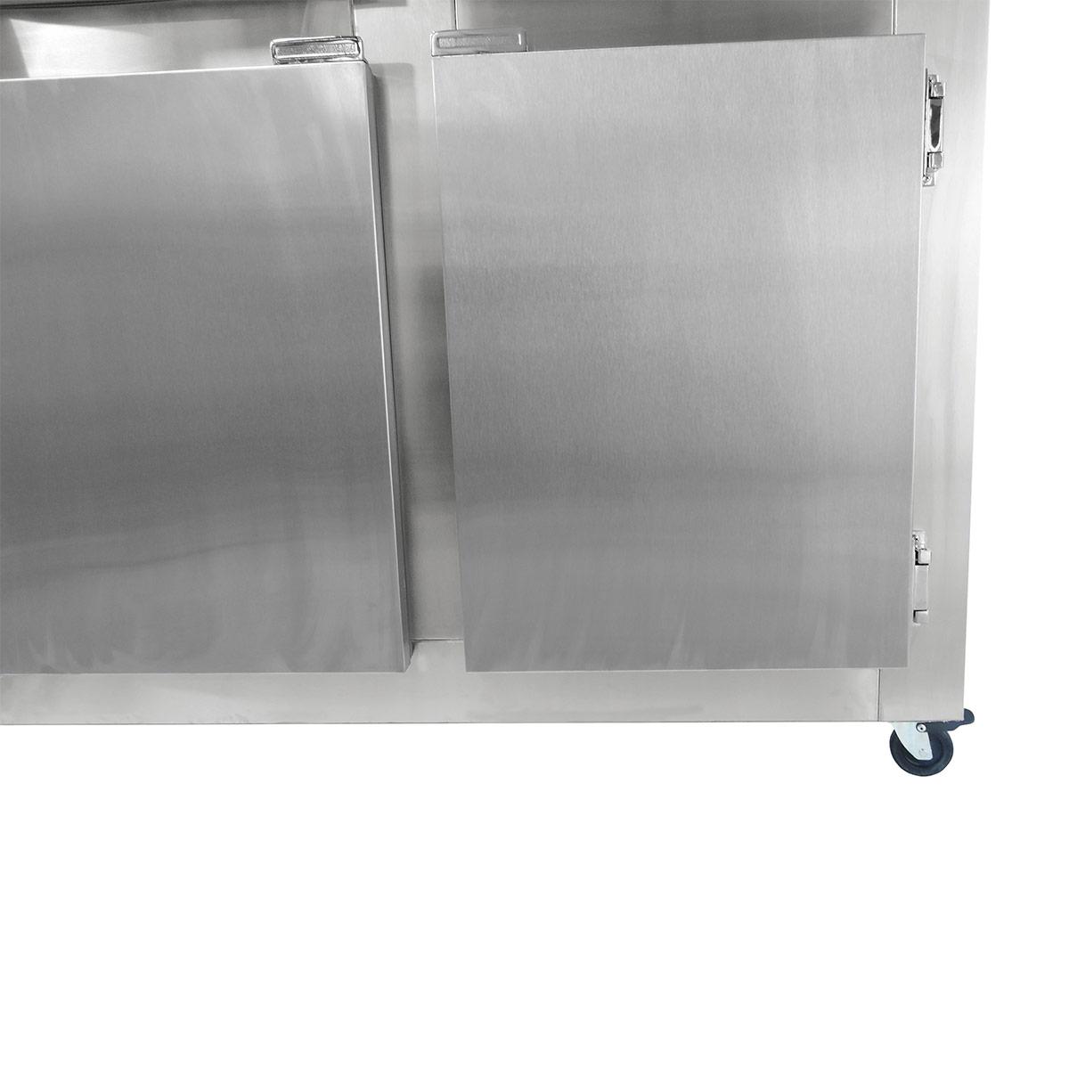 Geladeira Comercial 4 Portas Inox e Rodízios -Frilux