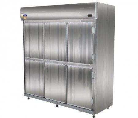 Geladeira Comercial Mini Câmara 6 Portas Inox  - Klima