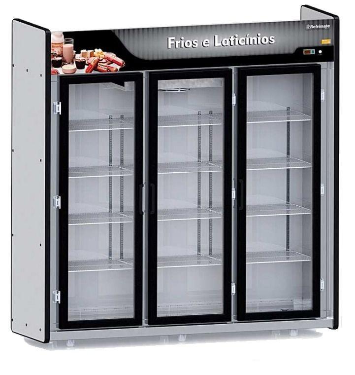 Geladeira Expositor 3 portas 1200 Litros REFRIMATE