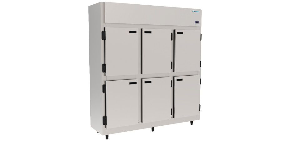 Geladeira Refrigerador Comercial 6 portas inox 1150 Litros Kofisa