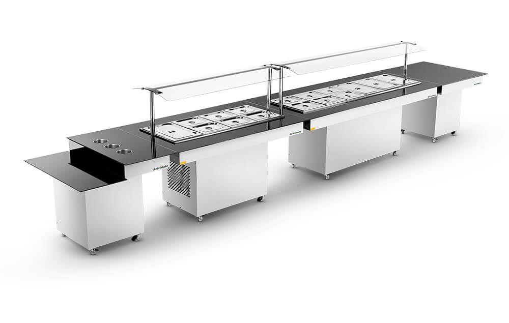 kit modular completo para restaurante refrimate