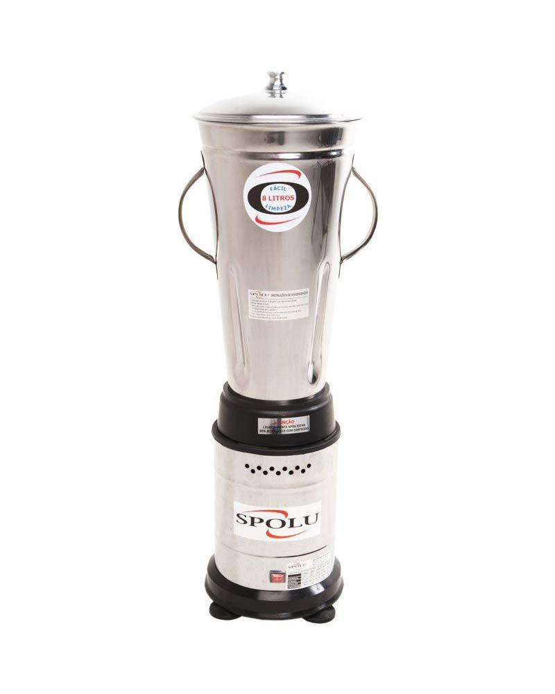 Liquidificador 8 Litros em Inox - Baixa Rotação - Spolu