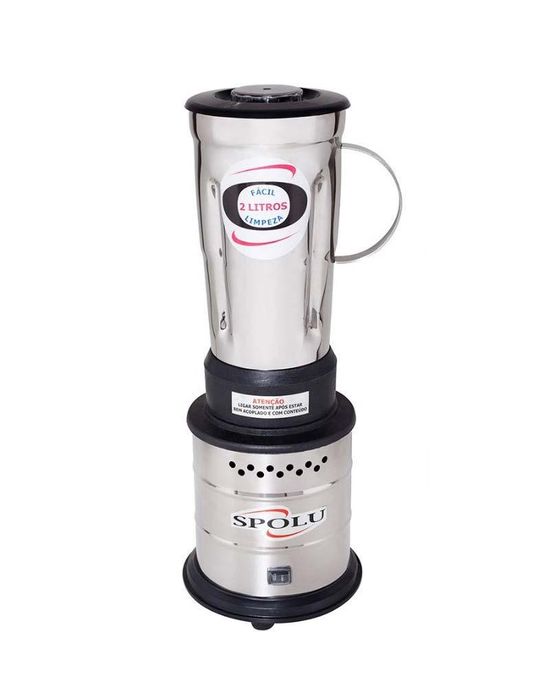 Liquidificador Ind 2 Litros Alta Rotação Inox  - Spolu