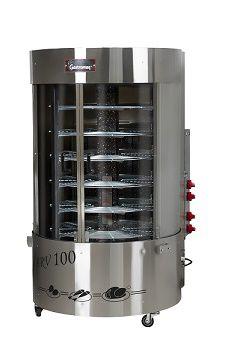 maquina de assar frango giratório arvsqc 100 gastromaq