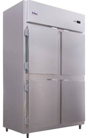 Refrigerador comercial 4 portas inox 900 litros luxo-frilux