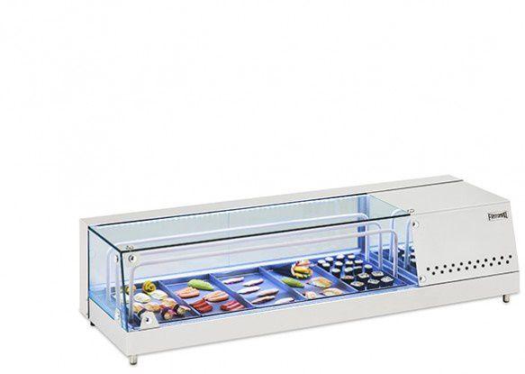 Vitrine Refrigerada para Sushi 1,26 Mts em inox-FRITOMAQ