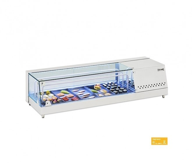 Vitrine Refrigerada Para Sushi Inox 1,68 mts FRITOMAQ