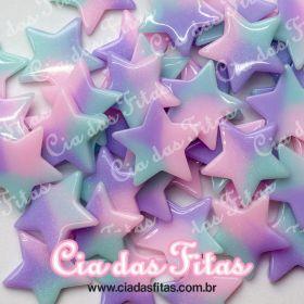 Aplique de Resina formato Estrela