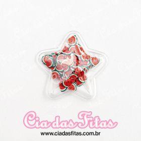 Aplique Estrela Transparente Frutas 5cm x 5cm