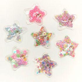 Aplique Transparente Estrelas 5cm